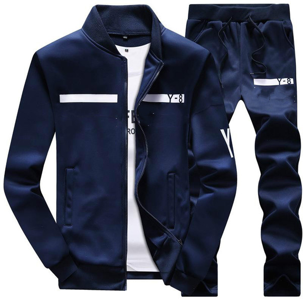 best selling New Tracksuit Men Winter Sportswear Hoodies Coat Loose Mens Sweater Tracksuits Zipper Sets Plus Size Coat Pant