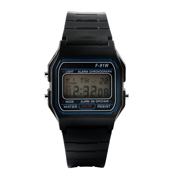 Modern Unique LED Digital Alarm Chronograph Male Black Rubber Watch Sport Casual Watch Reasonable Price