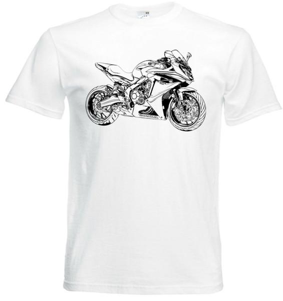 2018 Novos Homens de Verão Hip Hop Camiseta CBR650F, T-Shirt Da Rua Da Motocicleta CBR 650F Slim T-shirt Dos Homens 2018 da marca de moda 100% algodão