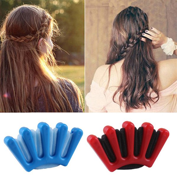 2 Colors Lady French Hair Braiding Tool Weave Sponge Plait Twist Hairstyling Braider DIY Accessories