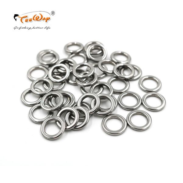 100 pçs / lote anel de pesca de aço inoxidável anel de isca de pesca de pesca acessórios de melhor qualidade em aço inoxidável 304
