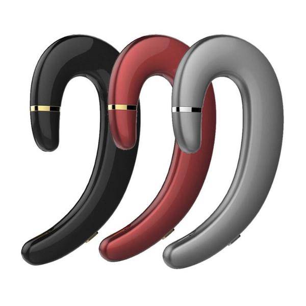 Bluetooth Wireless earphone earbuds Painless Hang on Ear headphone earpiece one ear speaker hook not in Ear no earplug