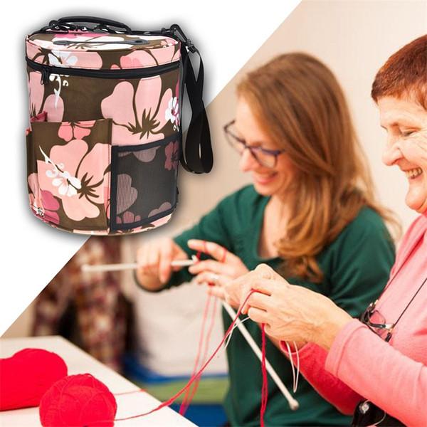 Diy Printing Wool Yarn Bundle Pocket Handmade Crochet Hooks Thread Storage Bags Sewing Kit Stuff Bag With Multi Style 37yh jj