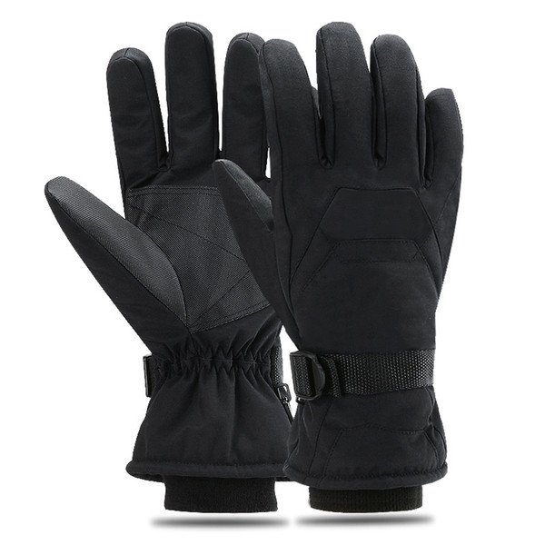 Winter Skiing Gloves Outdoor Sports Riding Waterproof Windproof Thermal Anti Slip Velvet Thickened Gloves For Unisex