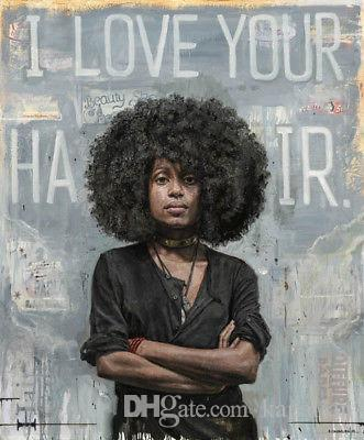 Tim Okamura Art Works Poster I Love You Hair Art Posters Print Photopaper 16 24 36 47 inches