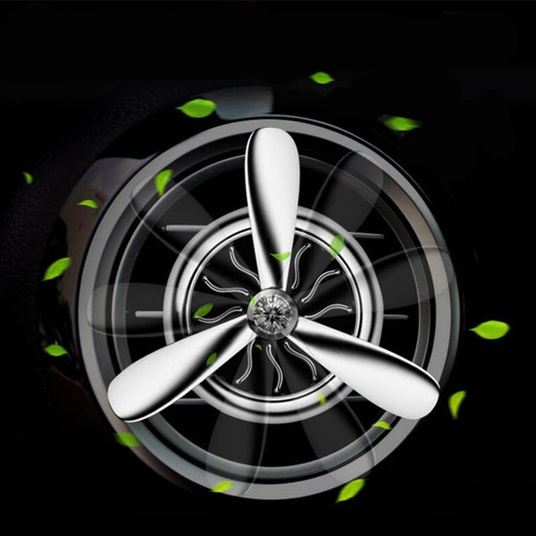 Venta al por mayor Coche Perfume Aire Acondicionado Outlet Vent Clip Mini Fan Aviones Cabeza Ambientador de Aire Fragancia Olor Dulce Decoración de Coche