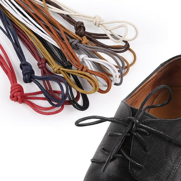10 pairs Leather Shoes Laces Cotton High Quality Multicolor Martin boots Shoelaces Round Shape Fine Rope Shoelace