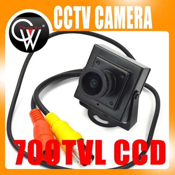 "New Mini HD 700TVL 1/3"" Sony CCD 2.1mm Wide Angle Lens CCTV Security FPV Color Home Security Camera"