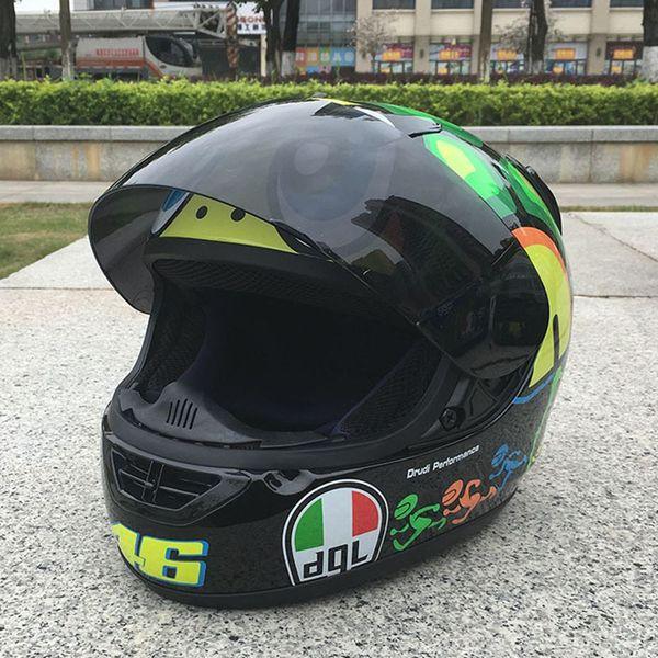 Yeni Varış Motosiklet Kask Moda Tasarım Tam Yüz Yarış Kaskları ECE DOT Onaylı Capacete Kasko Casque Moto