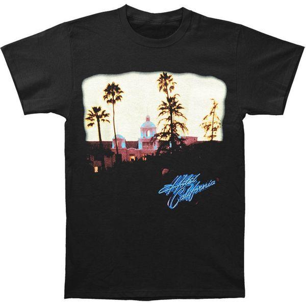 Mens Eagles Hotel California Music T-shirt Black Style Round Style tshirt Tees Custom Jersey t shirt