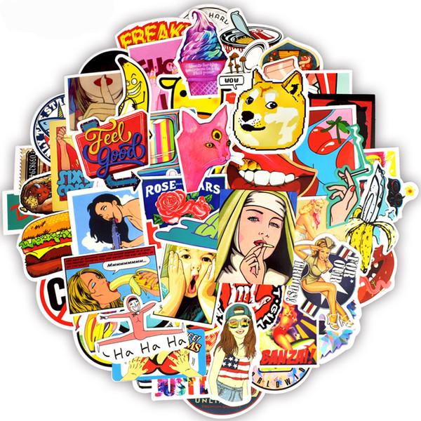 100 PCS Waterproof Custom Cool Stickers Vinyl Toy for Kids Teens Adult to DIY Car Motorcycle Bicycle Skateboard Laptop Cellphone Pad Luggage