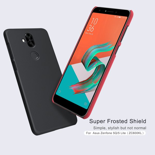 Nillkin Frosted Shield Phone Case For Asus Zenfone 5 Lite ZC600KL Back Cover for Asus Zenfone 5 Lite Matte Case Screen Protector