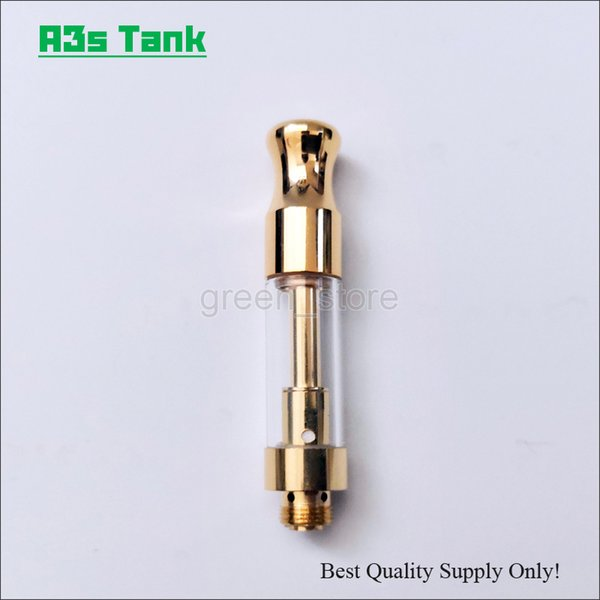Premium Gold A3s Vape Cartridge from Original Manufacturer Ceramic Coil Purer Vapor Smooth Oil Vaping Atomizer