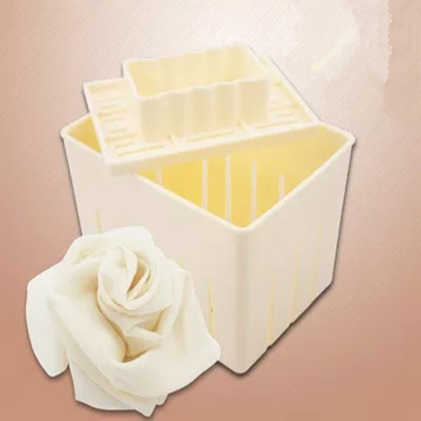 3Pcs Plastic Tofu Press Mould DIY Homemade Tofu Maker Pressing Mold Kit + Cheese Cloth Kitchen Tool mold