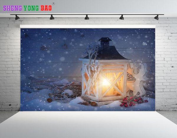 SHENGONGBAO Vinile personalizzato Natale tema Fondali Fotografia Vinile Prop Personalizzato Fotografia Sfondo NTZP-221