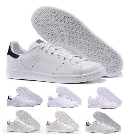 outlet store 191d8 015d6 Hot 2018 Mens Women Stan Smith Classic Boat Flats Air Casual Shoes  Skateboard Punching White Leather Girls Originals Designer Unisex Shoe  White ...