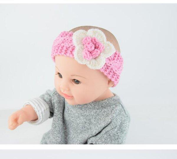 Bébé Fille Hiver Chaud Tricot Turban bandeau blanc seulement