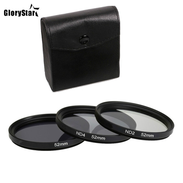 GloryStar 3 in 1 Gray ND2 ND4 ND8 Lens Filter Kit Set 49mm 52mm 55mm 58mm 62mm 67mm 72mm 77mm for Canon Nikon Sony Pentax Camera