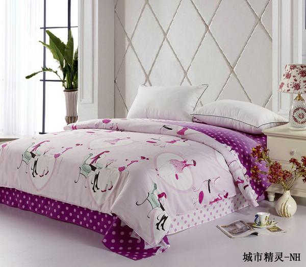 Wholesale-100% cotton duvet cover double bed duvet cover brief stripe plain home textile quilt 220x240