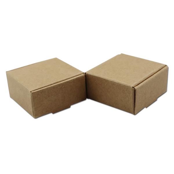 50 Stücke Platz Leere Farbe Kraftpapier Verpackung Box Weiß Braun Schwarz Karton Handgemachte Seife Verpackung Box Geschenk Paket