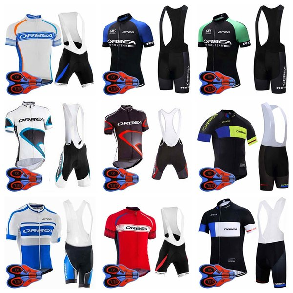 2018 Summer ORBEA Team Cycling Short Sleeves jersey MTB Bike Clothing quick dry Cycling Clothing Sports bib shorts Suit 92709J