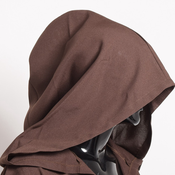 Unisex Women Men Kids Boys Girls Brown Black Hooded Halloween Cloak Medieval Knights Wizard Cool Cape Cosplay Costume