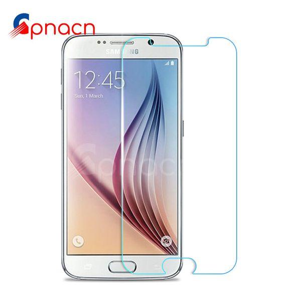 9H gehärtetes Glas für Galaxie S7 S6 S5 S4 S3 Mini Anmerkung 3 4 5 Schirm-Schutz Flim für S7 S6 ausgeglichenes Glas-Kasten
