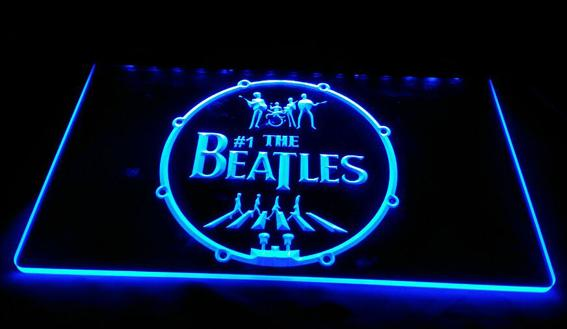 LS1591-b-The-Beatles-Band-Music-Drums-Neon-Light-Signs Decor Free Shipping Dropshipping Wholesale 8 colors to choose