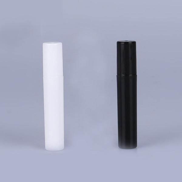 top popular Fashion 2ml 3ml 4ML 5ml 5CC Mini Portable Trial Package Plastic Perfume Bottle Wth Spray And Empty Perfume Test tube Black WHite 2021