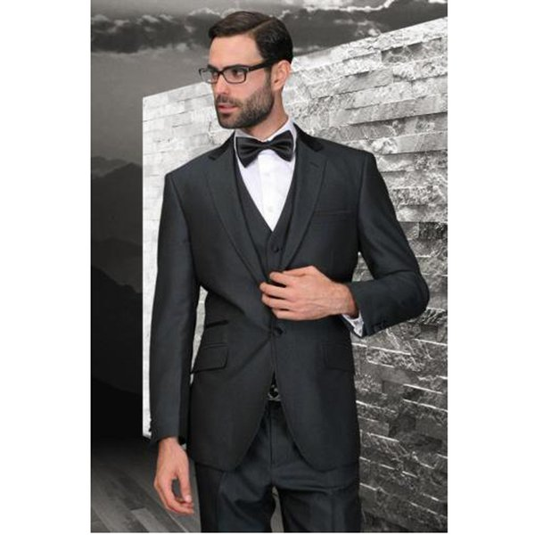 Custom Made Handmade 3 Piece Men's Slim Fits Wedding Suits Groom Suits Bridal Tuxedos Formal Evening Suits (Jacket+Vest+Pants)