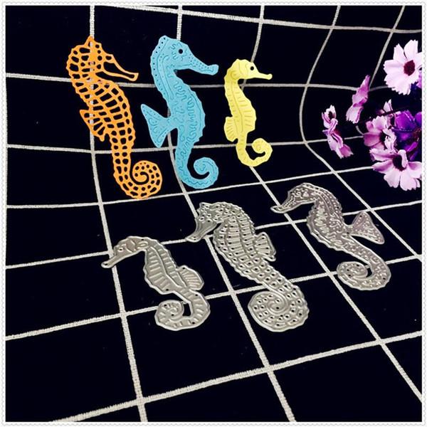3pcs/Set New Hippocampus Metal Cutting Dies Stencil Scrapbooking DIY Home Photo Album Paper Cards Decorations Embossing Crafts