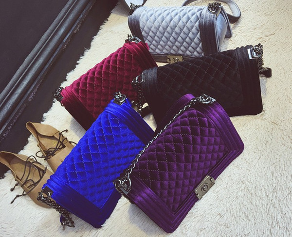 Sacos de ombro das mulheres Camurça De Veludo cadeia saco crossbody bolsas famoso designer bolsa de alta qualidade do sexo feminino saco