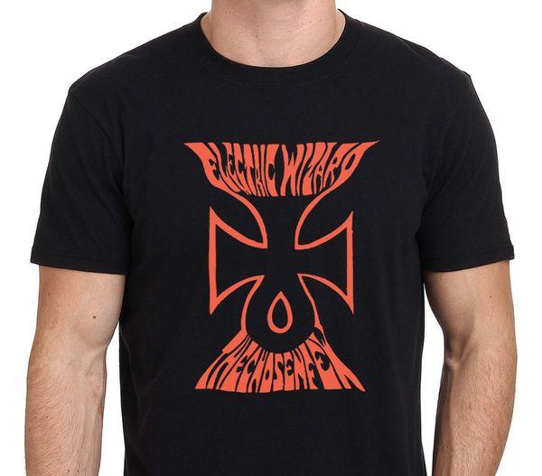 Electric Wizard Logo Grafik T-Shirt Herren Schwarz Größe S-XXXL Oberteile T Shirts Homme Top Tee