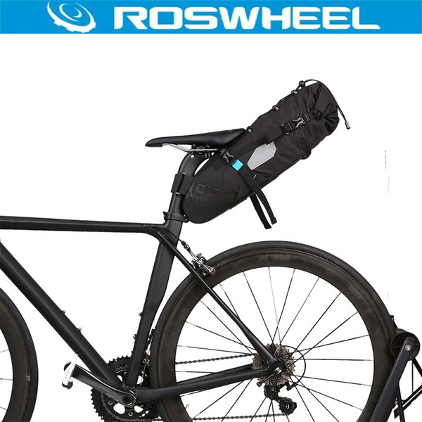 ROSWHEEL ATTACK Series Bike Bag 10L Bike Back Seat Rear Bag 100% Waterproof Bicycle Accessories Saddle Cycling Mountain