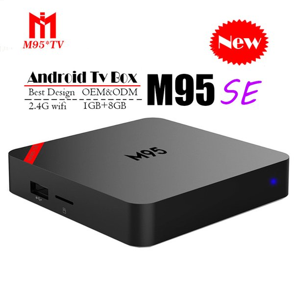 Quad Core Android TV Box M95 SE Quad Core 1 Go 8 Go 4K H.265 1080P Vidéo Streaming H3 Android TV Boxes Meilleur MXQ PRO X96 RK3229