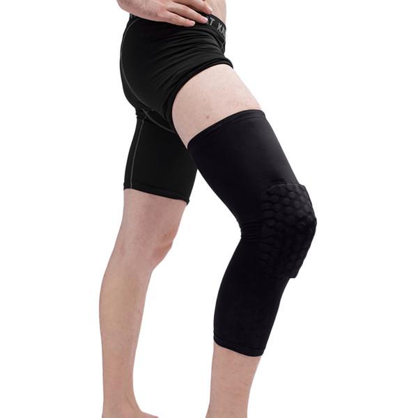 Adult Sports Training Elastic Kneepad Leg Elbow Sleeves Knee Pads Brace Support