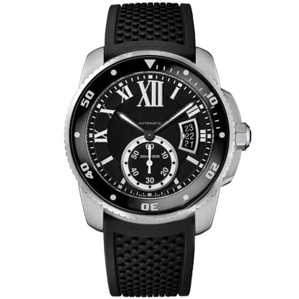 El mejor reloj para hombre CAR BALLON W69012Z4 Serie Calendario blanco Dial Automático Hebilla mecánica Reloj de pulsera con zafiro Reloj masculino