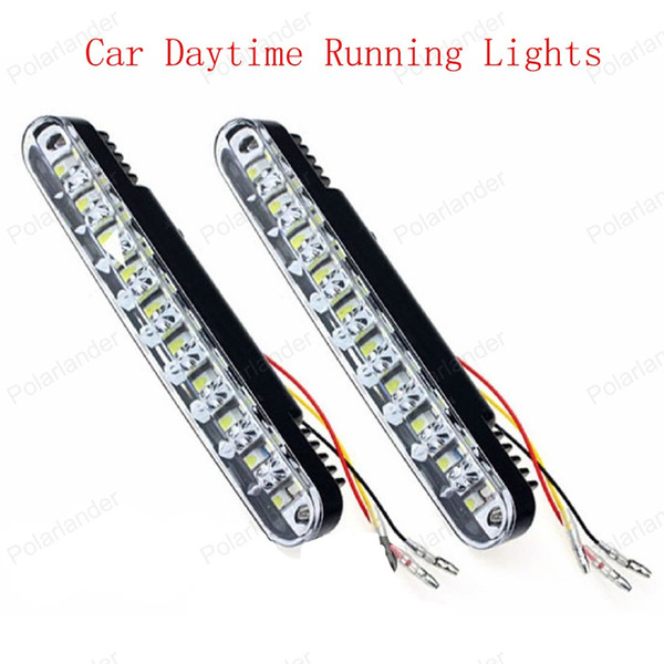 Luce di marcia diurna a lunga durata 2X5W 12V Luminosità DRL Luce diurna Led auto con luci di svolta vendita calda