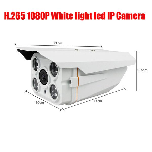 Free Shipping 4 Array White light Led 2MP 1080P HD IP Cam CCTV IP Camera Outdoor Infrared Night Vision IR Box Camera
