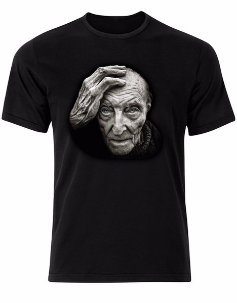 Old Man Staring Stunning Photograph Mens Tshirt Tee Top AL22 free shipping 2018 Newest Men'S Male Short Sleeve Summer Fashion t shirt