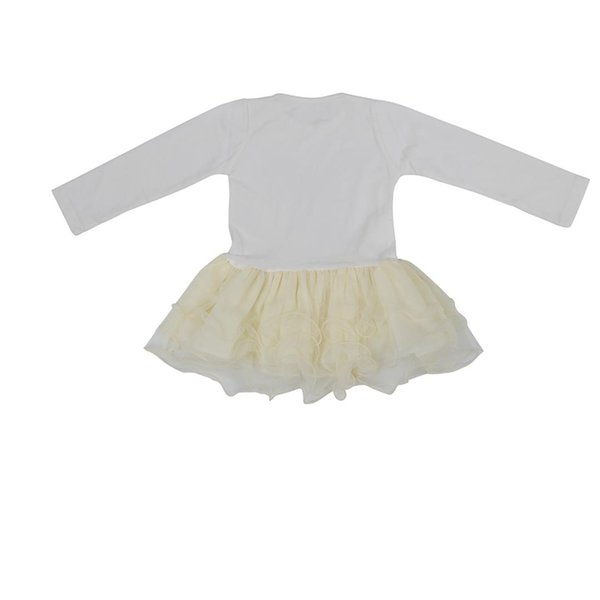 VENDITA CALDA Belle ragazze Casual Giacche Cardigan Tutu Dress Baby Kids Coat + Dress Girls Dress Beige 6