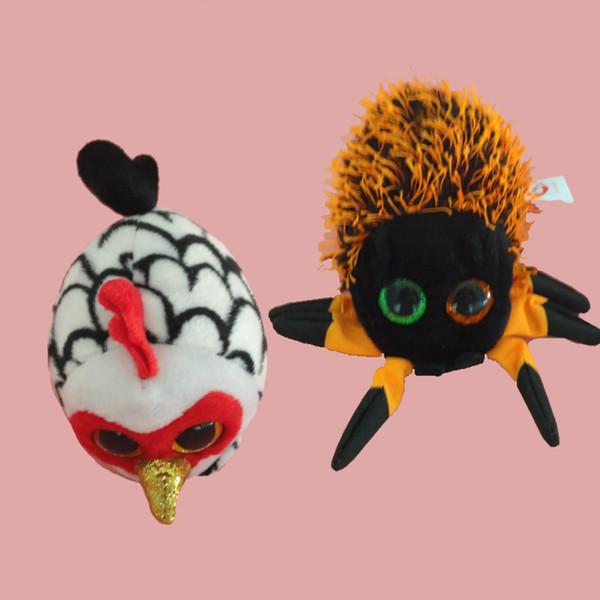 TY Plush Icy the Seal 9cm Original Ty Beanie Boos Big Eyes Plush Toy Doll Purple Panda Spider cock Baby Kids Gift