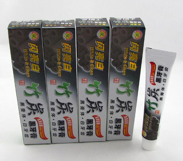 top popular 2018 hot sales 1000Pcs High Quality 100g Charcoal Toothpaste Black Tooth Paste Bamboo Charcoal Toothpaste Oral Hygiene Product 2021