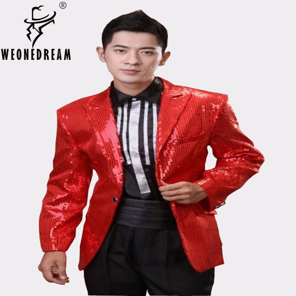 Saphir Bleu Rouge Blanc Noir Brillant Doré Costumes Costumes Paillette Tuxedo Homme Brillant Tuxedo Noir