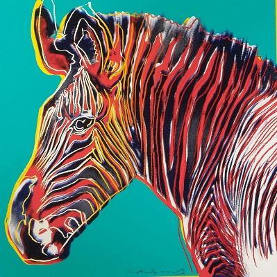 Andy Warhol Grevys Zebra handgemaltes HD gedruckte abstrakte Kunst-Ölgemälde, Wand-Kunst-Ausgangsdekor auf Qualitäts-Leinwand-Mehrgrößen a88