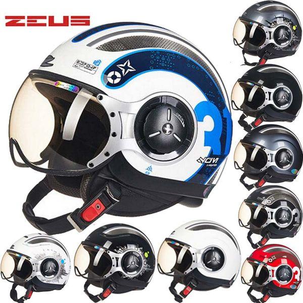 2017 New Taiwan ZEUS Half Face Motorcycle Helmet electric bicycle motorbike helmets made of ABS Four Seasons 218C Men/women
