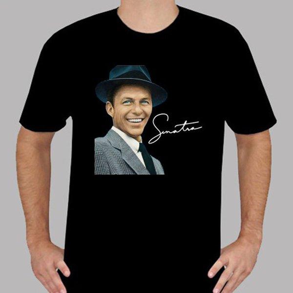 Новый Фрэнк Синатра классическая музыка легенда мужская черная футболка размер S до 3XL настроить футболки Новый 2018 Мода горячая футболка