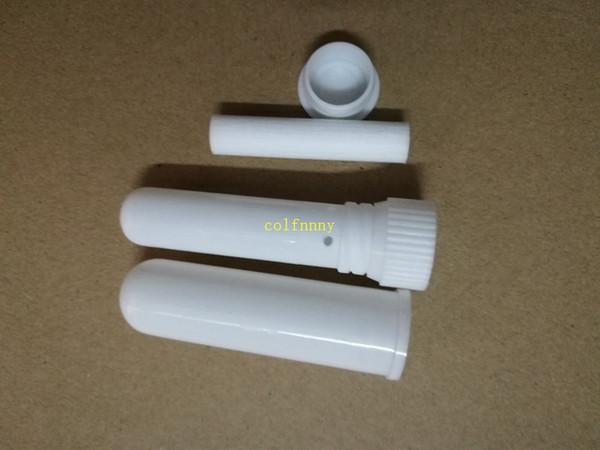 2000sets/lot brand new white color blank nasal inhaler sticks, sterile portable nasal inhaler tube, plastic inhalers