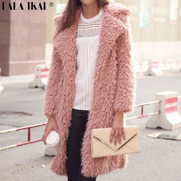 Automne hiver trench-coat polaire veste bouton femme fausse fourrure femmes manteaux