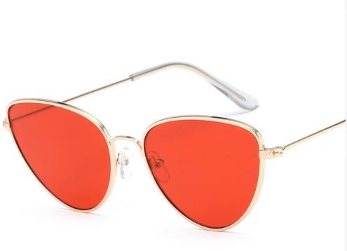 53e29867fd Nuevo ojo de gato rojo gafas de sol mujeres gafas de sol de lente clara para